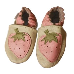Robeez Leather Strawberry Slippers